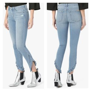 JOES PERCY THE ICON MID-RISE SKINNY ANKLE RUFFLE
